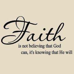 Faith is not really only simple. Faith is Deep. Trusting. Love.
