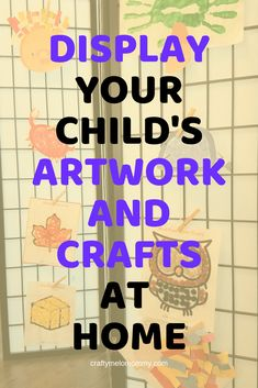 Easily display and store your kids' artwork. Fun ideas to display your kids' artwork and ways to organize and store your kids' artwork and crafts. Kids Craft Supplies, Craft Projects For Kids, Paper Crafts For Kids, Easy Crafts For Kids, Fun Crafts, Art For Kids, Displaying Kids Artwork, Easy Fall Crafts, Ikea Ideas