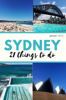 21 awesome tours and activities to do on your visit to Sydney, Australia. Bridge Climbs, surfing lessons at Bondi and behind the scenes at the Sydney Opera House.  #sydney #australia #nsw #visitsydney #sydneytips #sydneytravel