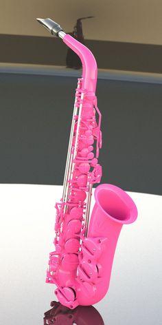 Pink saxophone.