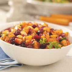 Mango Cranberry Sauce Recipe -I got this recipe from a friend. It's definitely worth the effort if you want to wow your gang at Thanksgiving. The leftovers are great with chicken or ham. —Robert & Rebecca Littlejohn, Meadow Vista, California