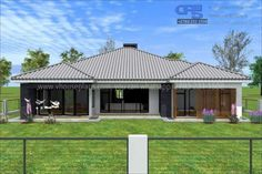 Overall Dimensions- x mBathrooms- 3 Car GarageArea- Square meters Dream Homes, My Dream Home, Building Costs, 4 Bedroom House Plans, Bungalow House Design, Square Meter, Open Floor, Home Collections, All Design