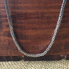 Spotted while shopping on Poshmark: Bali Byzantine Sterling silver 925 24inch Chain! #poshmark #fashion #shopping #style #Jewelry