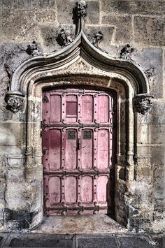It's an old pink door. Yay!