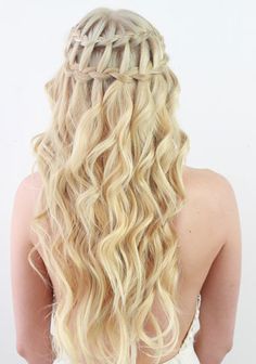 Gorgeous Waterfall Braid Hairstyle You Can Make By Yourself #Gorgeous #Waterfall #Braid #Hairstyle #You #Can #Make #By #Yourself