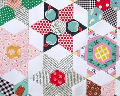 The Daisy Chain Quilt - An English Paper Piecing Project - Part 4 | Red Pepper Quilts | Bloglovin'