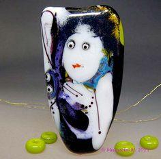 Artist handmade lampwork bead - Fairies Needed  - Glassartist Manuela Wutschke on Etsy, $135.00