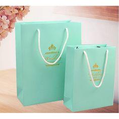 Hot Sale Tiffany Blue DIY Gift Bags Wedding Favor Bag EWFB005