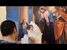 Art Reproduction (Veronese - Raising of the Widow's Son of Nain) Hand-Pa...