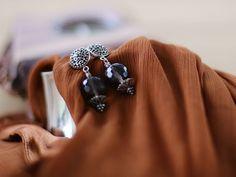 Silver Ornament and Swarovski Earrings Silver Ornaments, Swarovski, Handmade Jewelry, Jewels, Earrings, Etsy, Fashion, Ear Rings, Jewelery