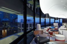 Polaris Nightlife in Atlanta:  This blue-domed rotating restaurant and bar sits perched atop the Hyatt Regency Atlanta. Several cocktails include the sweet honey from these hives