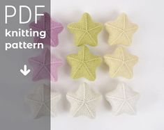 STAR TOY knitting pattern, knitted star toy PDF tutorial instant download, newborn photo prop, knitted star pdf pattern, photo prop pattern