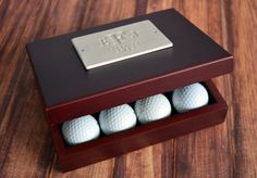 What a cool and unique golf gift for the person who has everything.  PERSONALIZED Golf Ball Box.  I want one!