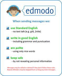 Edmodo Rules Poster - Simon Haughton's Blog #edmodocon