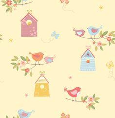 Birdhouses Honey wallpaper by Albany