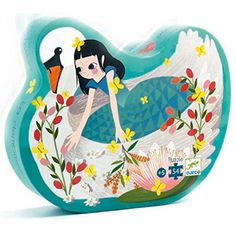 SILHOUETTE JIGSAW PUZZLE LADY WITH SWAN BY DJECO: Amazon.co.uk: Toys & Games