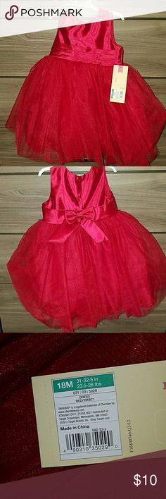 🍭Sparkly red infant dress NWt beautiful sparkly red sleeveless dress! Cherokee Dresses Formal