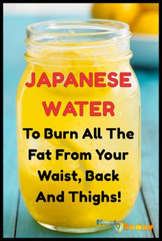Japanese Water To Burn All The Fat From Your Waist, Back And Thighs! Japanese Water To Burn All The Fat From Your Waist, Back And Thighs! This is a safe and fast fat burning home remedy that you can s Fat Loss Drinks, Fat Burning Detox Drinks, Diet Drinks, Beverages, Detox To Lose Weight, Lose Weight Fast Diet, Makeup Tricks, Flat Belly Detox, Japanese Water