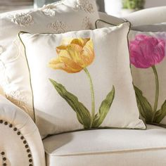 Lark Manor Cotton Throw Pillow Color: Gold We believe that tattooing can be quite a method that's been used since … Yellow Throw Pillows, Floral Pillows, Throw Pillow Sets, Outdoor Throw Pillows, Decorative Throw Pillows, Cover Pillow, Sewing Pillows, Diy Pillows, Cushions