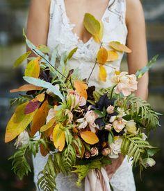 Fall foliage bouquet