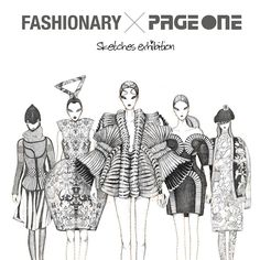 The 30 sketches collected are exhibited along side the 20 samples created by the Fashionary teams.