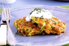 Leek and Chickpea fritters