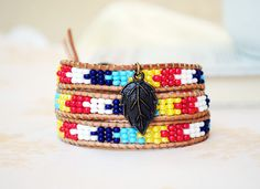 Wrap Bracelets – Tribal, Ethno 3 x Wrap Bracelet – a unique product by TheDreamcatchers on DaWanda