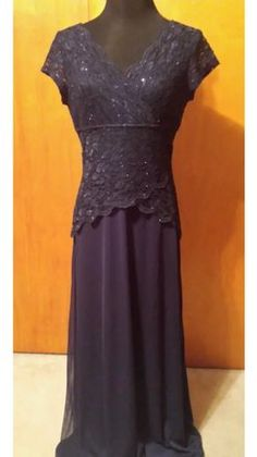 ed7cee8475a Blu Sage Midnight (Navy) Polyester Blend Style  646962j Formal  Bridesmaid Mob Dress Size 14 (L)