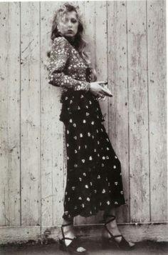 Pattie Boyd in Ossie Clark Dress, 1973