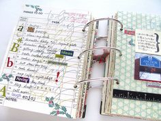 daily to do journal idea.  Stamp, sticker, photo and practical for day to day.
