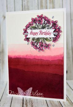 http://nicolejuliewilson.blogspot.com.au/ Global Design Project 070, Avant Garden watercolour faux dip dye www.facebook.com/NicoleWilsonStamp #stampinup #saleabration #GDP070 #occasions #birthday #watercolour