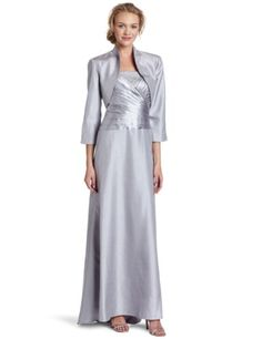 Jessica Howard Women's Mother Of Silver Jacket Dress $148.00