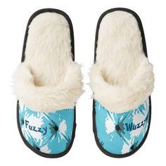 Fuzzy Wuzzy Cyan Fashion Slippers by Janz