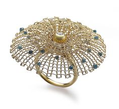 Ring | Sowon Joo.  18k yellow gold, diamonds, colour diamonds. now that ladies is a ring