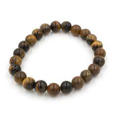Bracelet Fantaisie Oeil de Tigre Beaded Bracelets, Jewelry, Look Casual, Eyes, Accessories, Jewlery, Jewerly, Pearl Bracelets, Schmuck