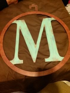 painted M from Michael's