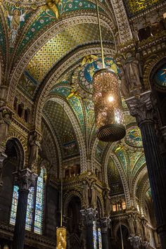 Basilique de Fourvière, Lyon, France. by Michael Flocco