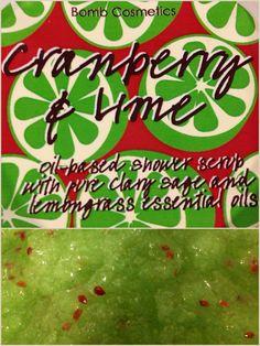 #bodyscrub #bombcosmetics #cranberry #lime