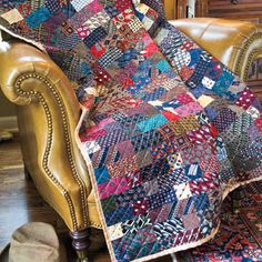 masculine quilts   Celebrate Dad: Masculine Recycled Silk Tie Lap Quilt Pattern