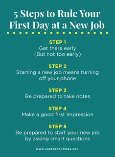 Here are a few ways to ensure a successful first day when starting a new job.