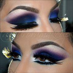 Very bold makeup Purple Eye Makeup, Love Makeup, Makeup Art, Beauty Makeup, Makeup Looks, Bright Makeup, Awesome Makeup, Purple Eyeshadow, Dramatic Makeup