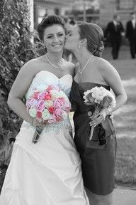 Great bride and bridesmaid picture