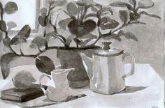 at home-sketchbook watercolor by annamariapotamiti, via Flickr