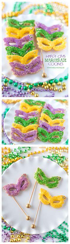 Celebrate Carnival with Mardi Gras Masquerade Sugar Cookies