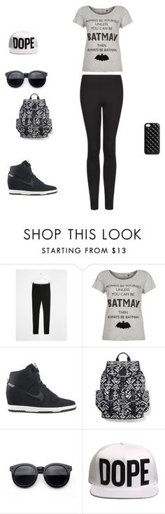 """""""Без названия #10"""" by oksana-kolesnyk ❤ liked on Polyvore featuring MANGO, ONLY, NIKE, Express and The Case Factory"""