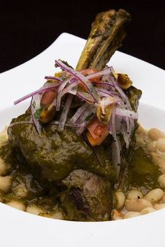 PERUVIAN Seco-de-Cordero, Lamb Cilantro Stew.  A dish you are likely to find on a Peruvian food tour. Why not visit our web site for recommended tours at http://www.allaboutcuisines.com/food-tours/peru/in/peru or perhaps a cooking class at http://www.allaboutcuisines.com/cooking-school-classes/peru/in/peru #Travel Peru #Peruvian food