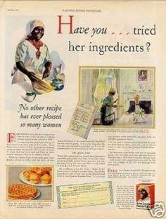 "Aunt Jemima Pancakes Ad ""Have You Tried. Retro Recipes, Vintage Recipes, Vintage Food, Vintage Ads, Retro Ads, Vintage Advertisements, Aunt Jemima Pancakes, Minstrel Show, Black Like Me"