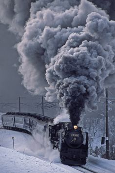 Train Tracks, Train Rides, Railroad Photography, Train Art, Ho Trains, Train Pictures, Train Engines, Train Journey, Winter Scenery
