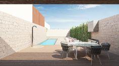 Apartment by destilat - MyHouseIdea Real Estate Development, Terrace, Interior Design, Building, Outdoor Decor, Spas, Pools, Home Decor, Courtyards