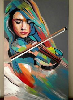 Violoniste A new solo number regenerating its brain involving closely injure hands, clasping tendency hips Art Deco Paintings, Japan Painting, Pop Art Girl, Arte Pop, Portrait Art, Figure Painting, Female Art, Collage Art, Sculpture Art